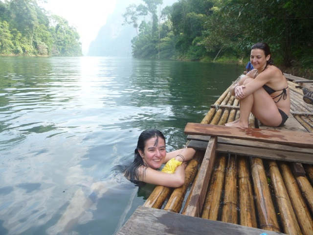 graciela & dain on raft